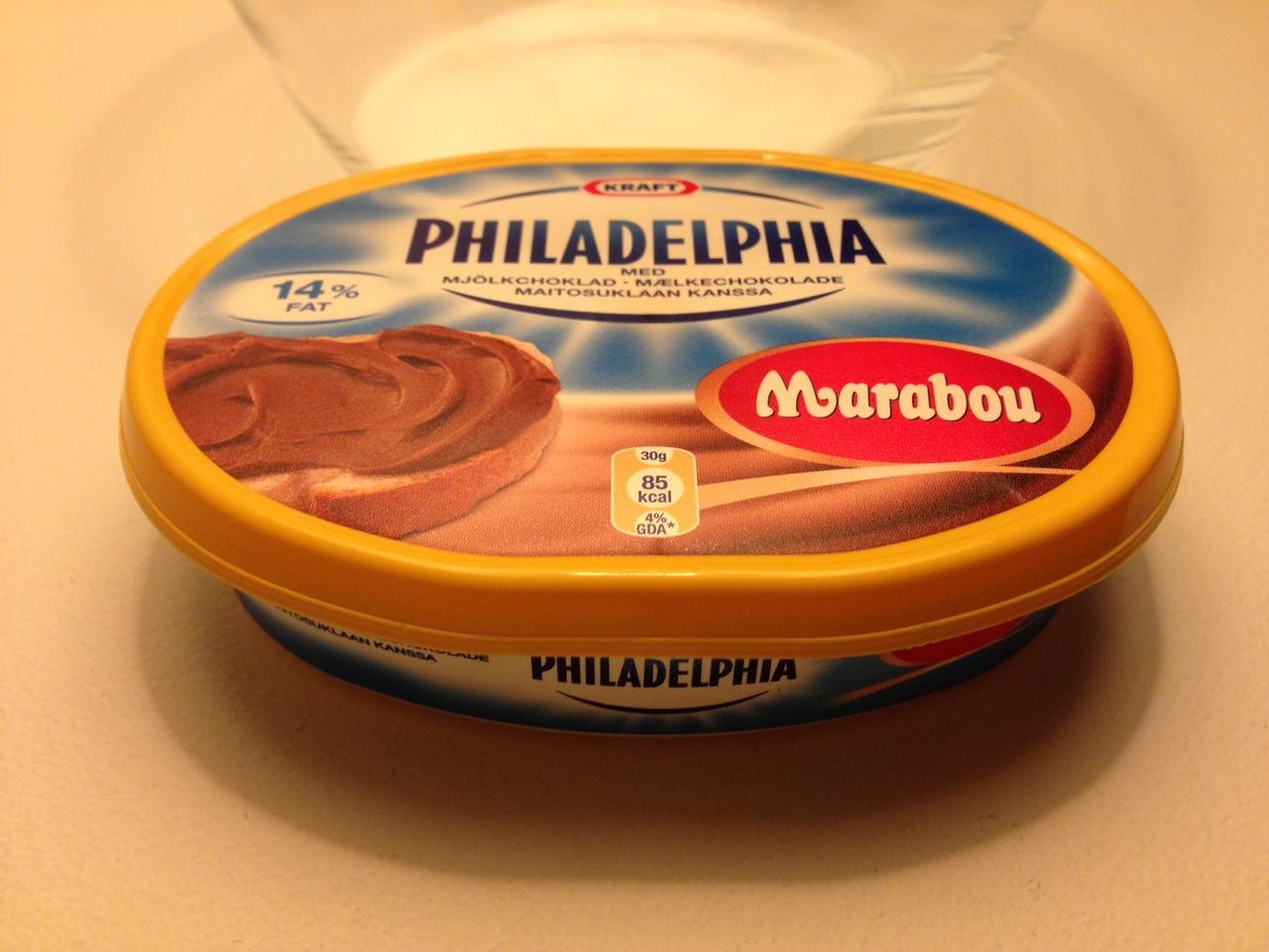 Philadelphia med Marabou mjölkchokladsmak
