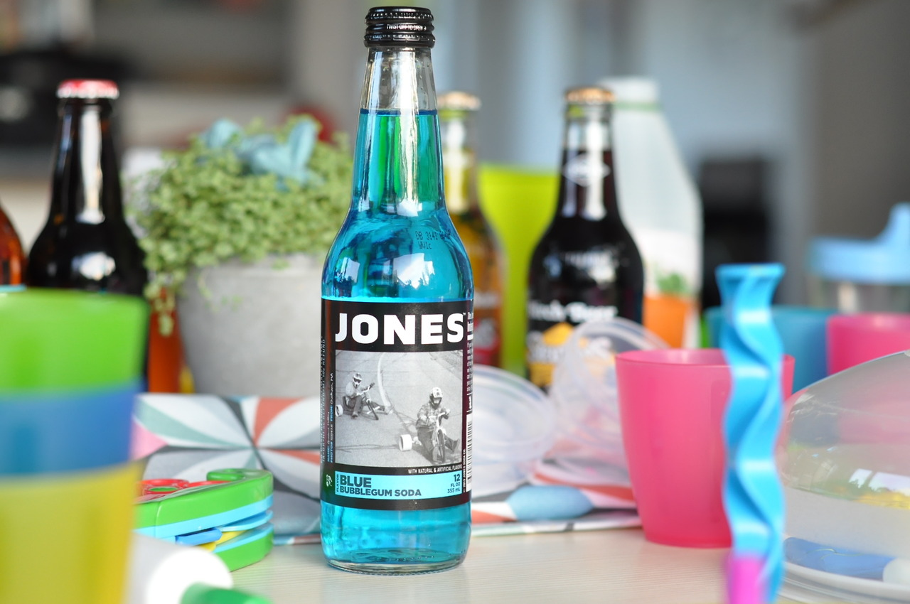 Jones Blue Bubblegum Soda