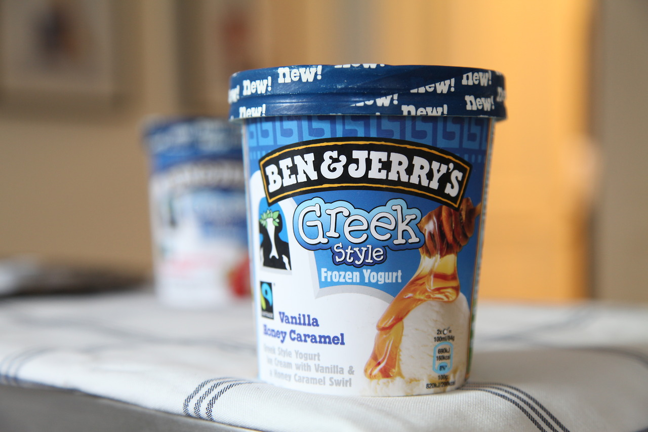 Ben & Jerry's Greek Style Frozen Yogurt Vanilla Honey Caramel