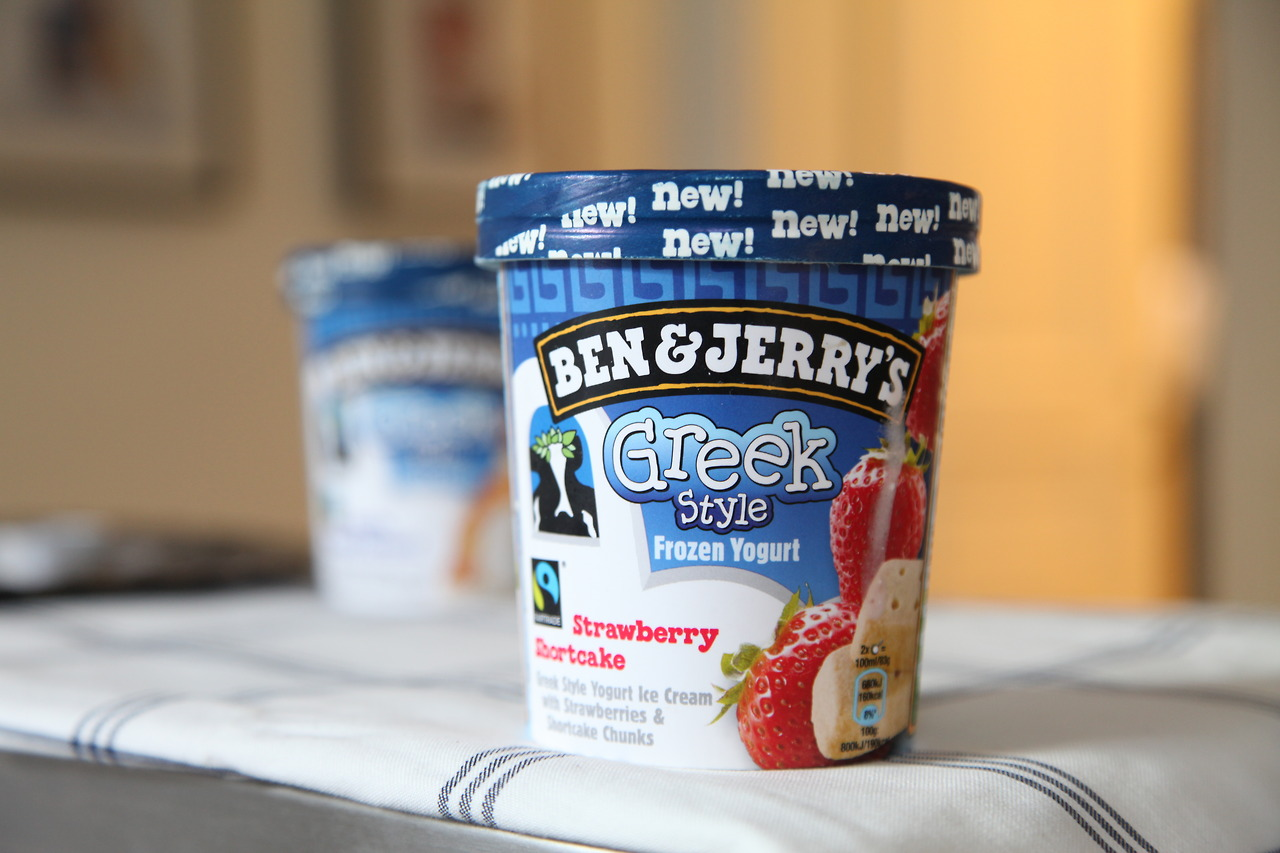 Ben & Jerry's Greek Style Frozen Yogurt Strawberry Shortcake