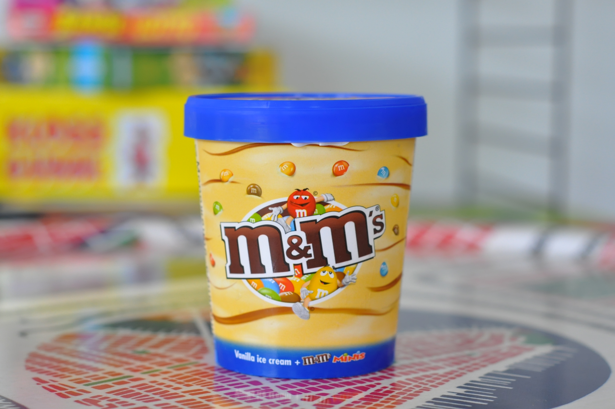 M&M's Vanilla Ice Cream