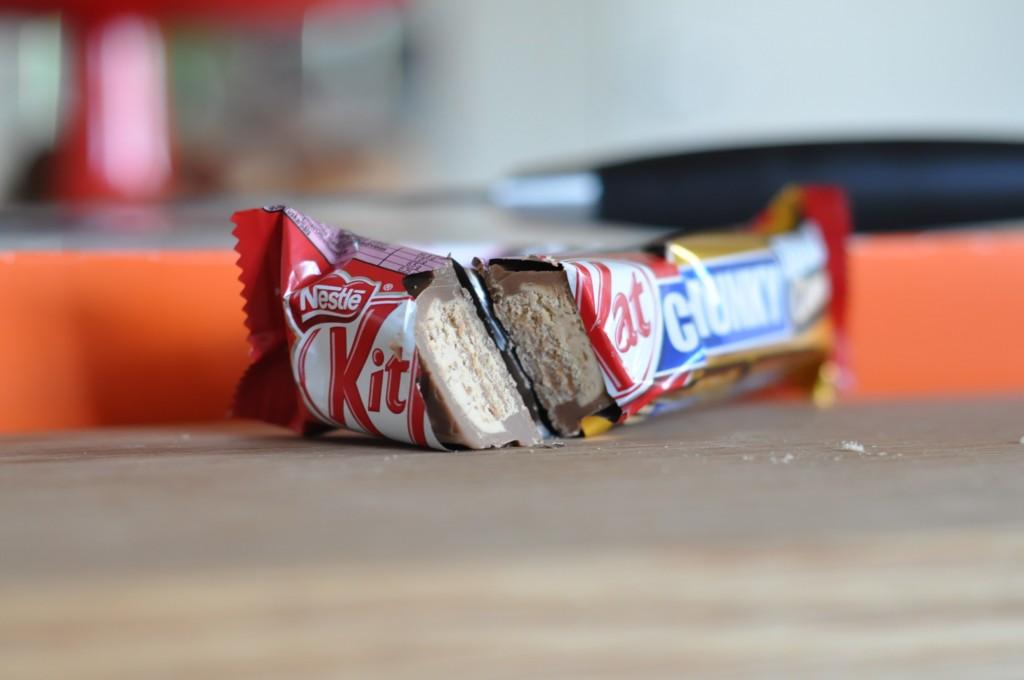 KitKat Chunky Double Caramel innanmäte