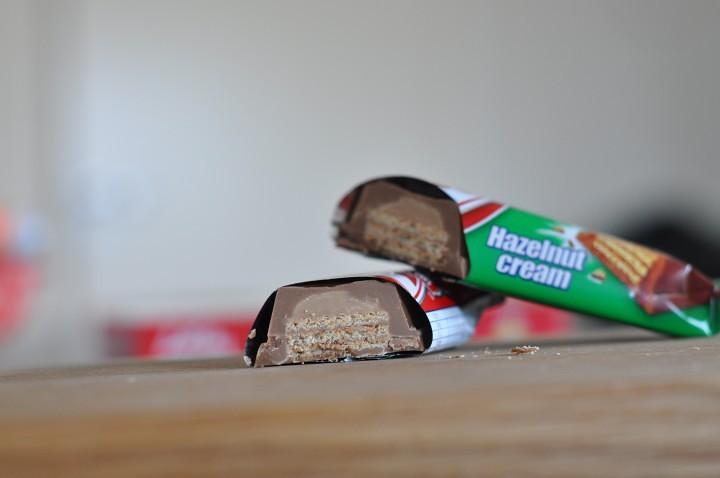 Genomskärning av chokladbiten
