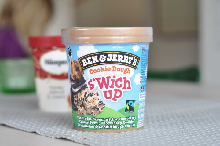 Ben & Jerry's Cookie Dough S'Wich Up