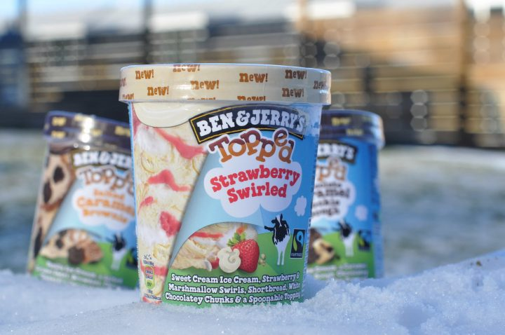 Ben & Jerry's Topped Strawberry Swirled