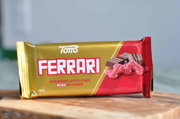 Toms Mjölkchoklad Ferrari