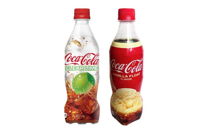 Coca-cola Clear Lime och Coca-Cola Vanilla Float