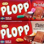 Nyhet: Plopp Mjölkchoklad med Bridge och Parrots Kanderade Mandlar