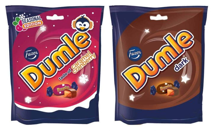 Dumle Caramel Cranberry & Dumle Dark
