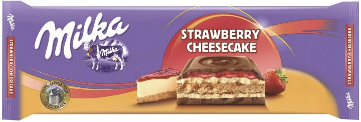 Milka strawberry cheesecake