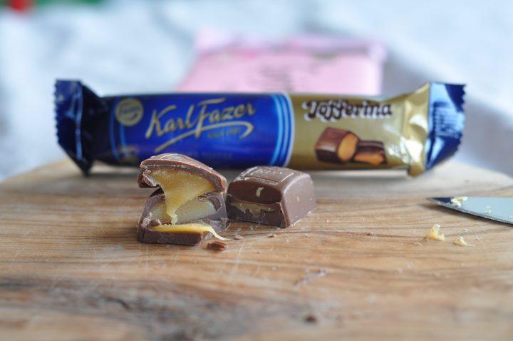 Karl-Fazer mjölkchoklad med Tofferina