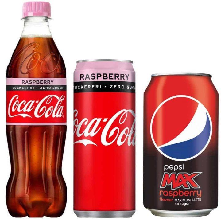 Coca-Cola Zero Raspberry och Pepsi Max Raspberry