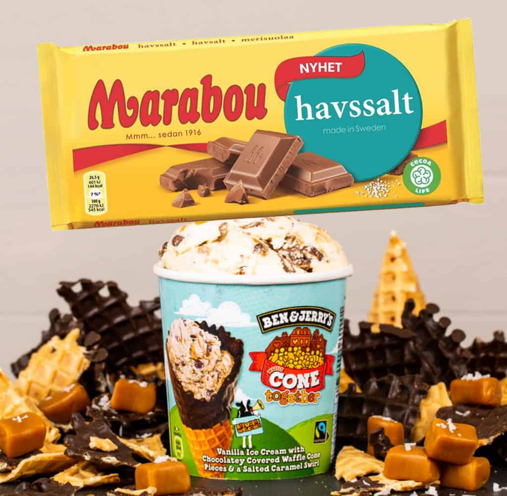 Nyhet Marabou Havssalt Och Ben Jerry S Cone Together Sockerbiten