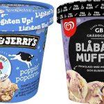 Nyhet: Ben & Jerry's Moo-phoria Poppin' Popcorn och GB Fikaglass Blåbärsmuffins