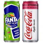 Nyhet: Fanta What The Fanta Zero Sugar & Coca-Cola Light Taste Twisted Strawberry