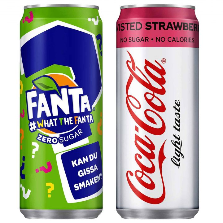 Fanta What The Fanta och Coca-Cola Light Strawberry